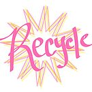recycle - simple starburst print by chipsandsalsa