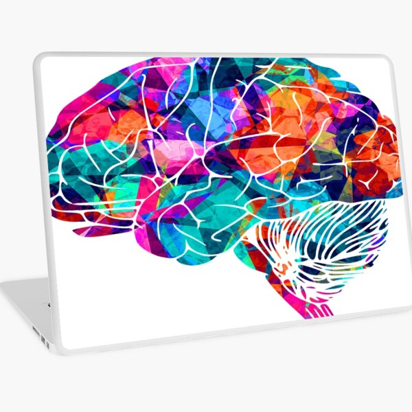 Colors Brain Laptop Skin