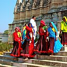 COLOURS IN THE TEMPLE by amulya