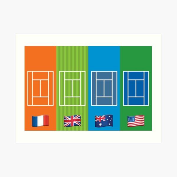 Country Emoji Grand Slam Courts Art Print