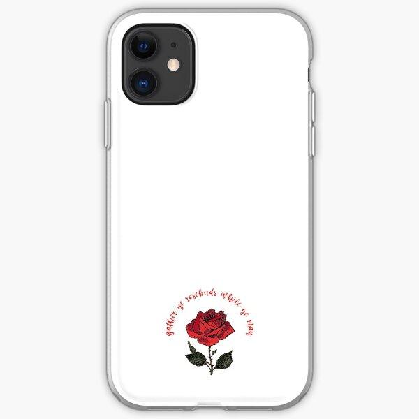 Gather Ye Rosebuds iPhone Soft Case