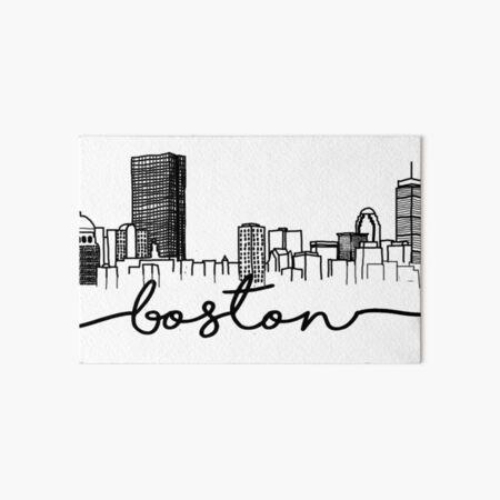 Boston Skyline Art Board Print