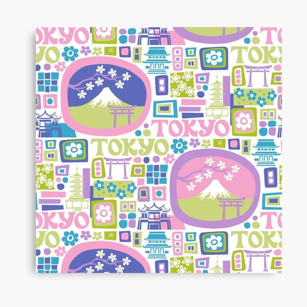 Tokyo - cool graphic design Canvas Print