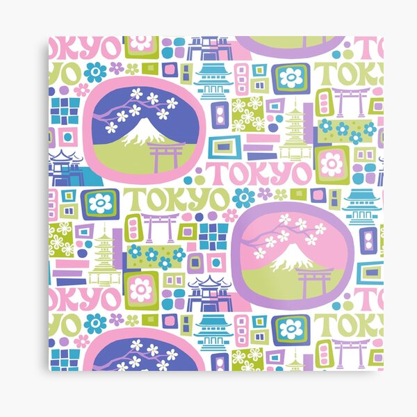 Tokyo - cool graphic design Metal Print
