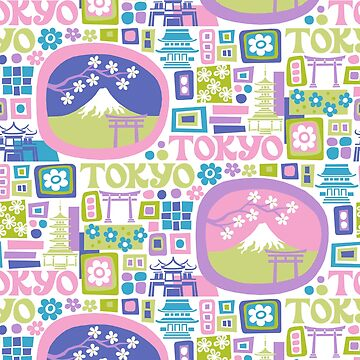 Tokyo - cool graphic design by challisandroos