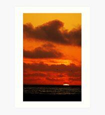 Sunset on a SoCal Beach Art Print