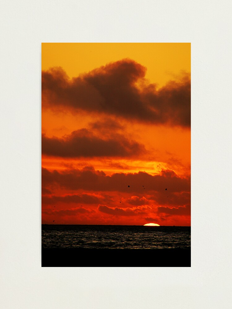 Alternate view of Sunset on a SoCal Beach Photographic Print