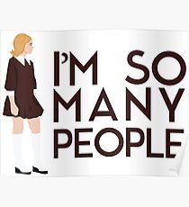 I'm so many people - Sally Draper from Mad Men Quote Poster
