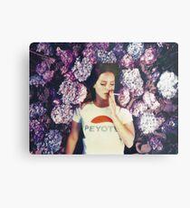 Lana Laying in Flowers Metal Print