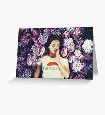 Lana, der in Blumen legt Grußkarte