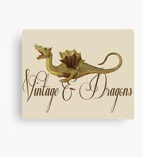 Vintage & Dragons Canvas Print