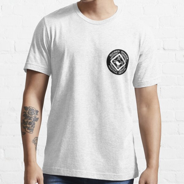 Guided Chaos Trademarked white on black circle swag! Essential T-Shirt