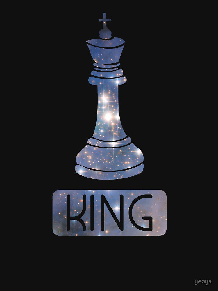 King Chess Piece Starry Night Galaxy - Cool Chess Club Gift by yeoys