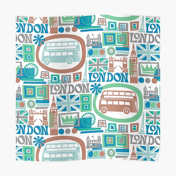 London - cool graphic design Poster