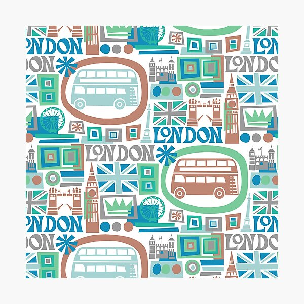 London - cool graphic design Photographic Print