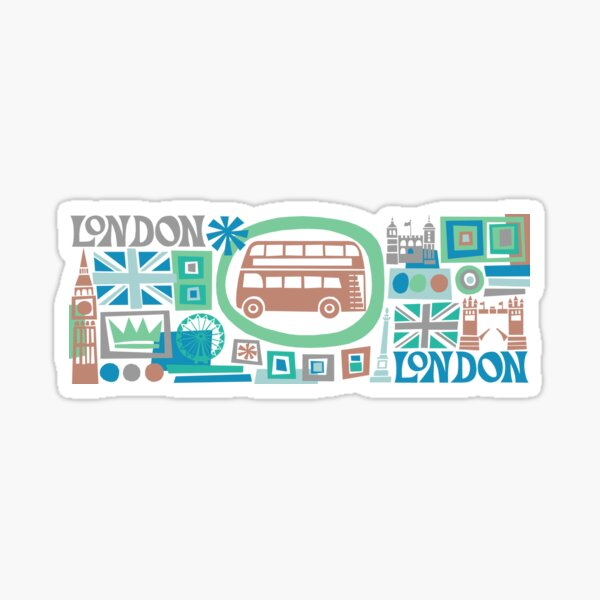 London - cool graphic design Sticker