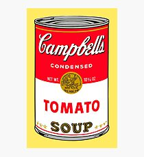 Andy Warhol Campbell Soup Can Pop art print Photographic Print