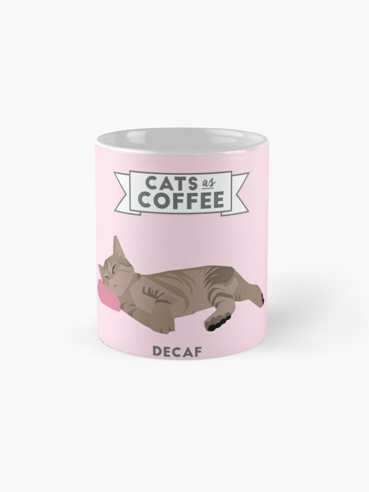 Vista alternativa de Tazas Gatos como café: Decaf