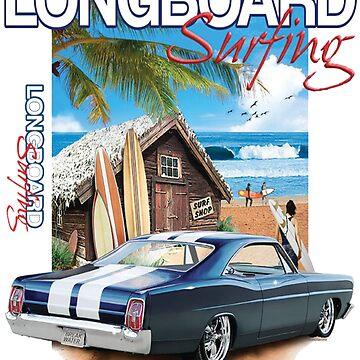 LONGBOARD surfing by spartamos