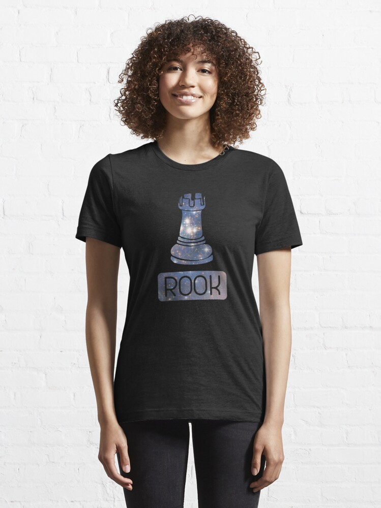 Alternate view of  Rook Chess Piece Starry Night Galaxy - Cool Chess Club Gift Essential T-Shirt