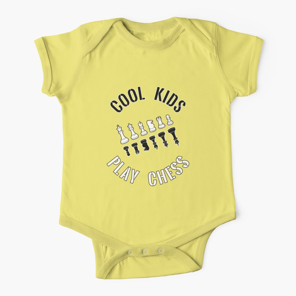 Cool Kids Play Chess All Pieces - Cool Chess Club Gift Baby One-Piece