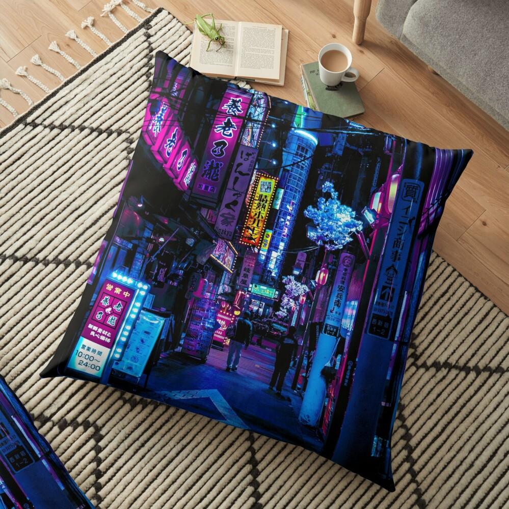 Blade Runner Vibes Floor Pillow