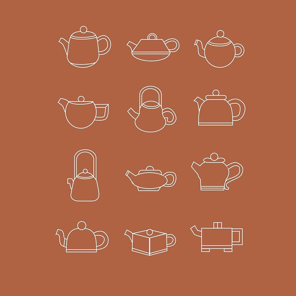 Teapots by Sydney Koffler