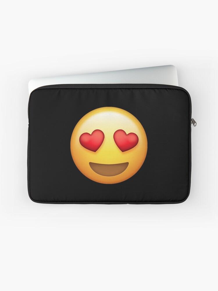 Heart Eyed Smiley Face Emoji | Laptop Sleeve
