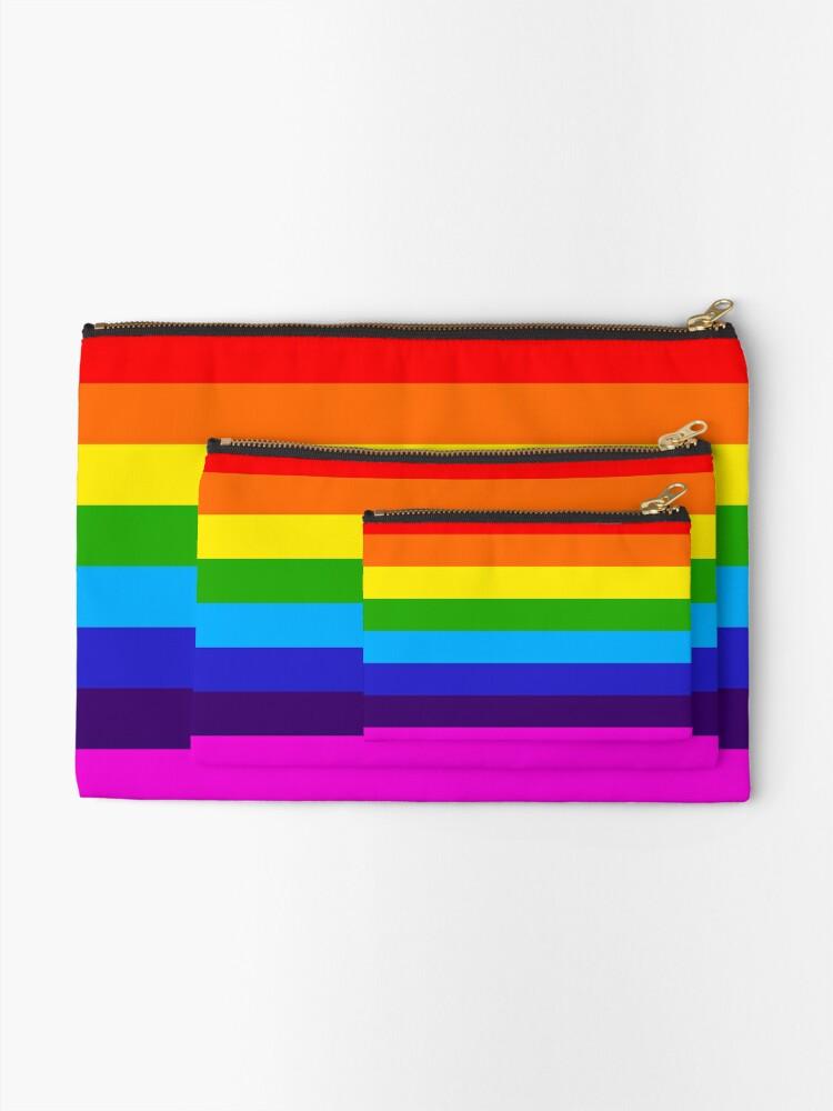 Alternate view of Rainbow Zipper Pouch