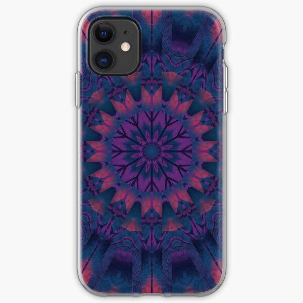 Estrella púrpura Funda blanda para iPhone