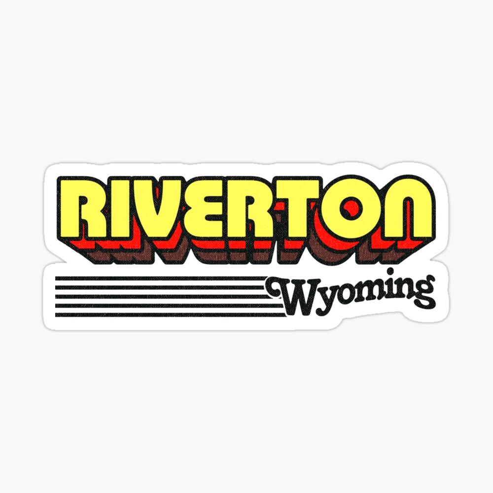 Riverton, Wyoming | Retro Stripes Sticker