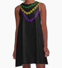 Mardi Gras Beads A-Line Dress