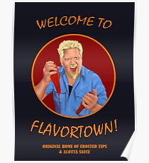 Welcome to Flavortown Guy Fieri Poster