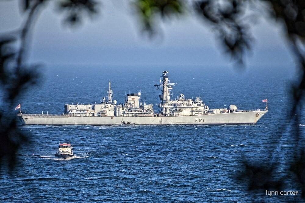 HMS Sutherland At Lyme. Dorset.UK by lynn carter