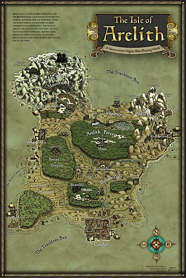 Quot Arelith Map Quot Poster By Artos Redbubble