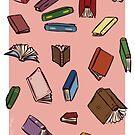It's Raining Books by allicyndraws