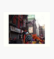 Chinese New Year, NYC No.1  Art Print