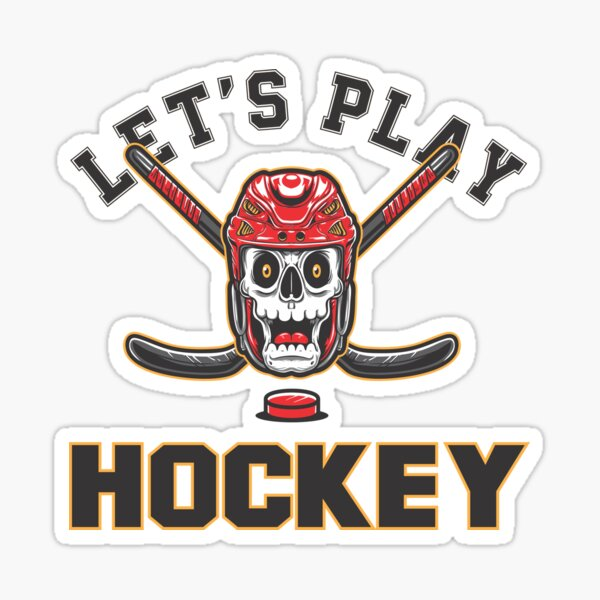 let's play hockey  Sticker