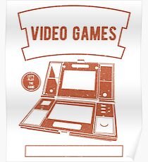 RETRO GAMES VIDEO GAMES TEACHING ENGLISH SINCE 1980'S GAME OVER T-SHIRT  Poster