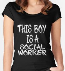 This Boy is a Social Worker Women's Fitted Scoop T-Shirt
