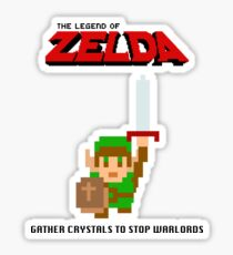 The Legend of Zelda: Gather Crystals to stop Warlords Sticker