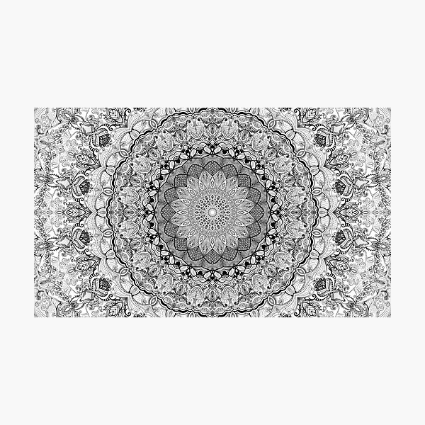 Mandala Project 632 | Black and White Photographic Print