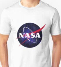 Purple Space NASA Logo Unisex T-Shirt