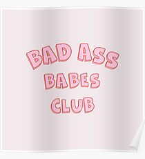 Bad Ass Babes Club Poster