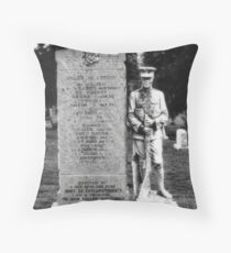 Memorial Stone Black&White Throw Pillow