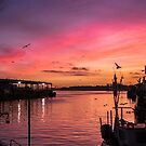 North shields fish quay sunset by Angi Wallace