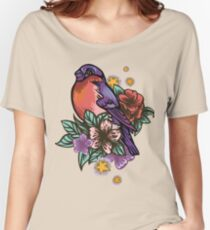 Bullfinch Floral Pattern Relaxed Fit T-Shirt