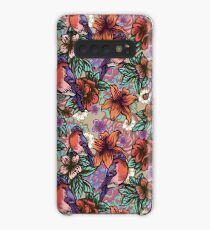Bullfinch Floral Pattern Case/Skin for Samsung Galaxy