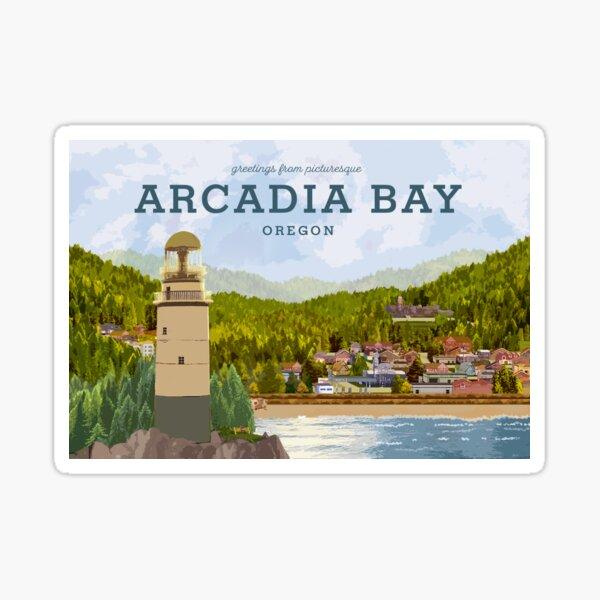 Life is Strange - Arcadia Bay Postcard (Day) Sticker