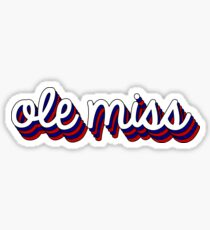 Ole Miss Retro Sticker